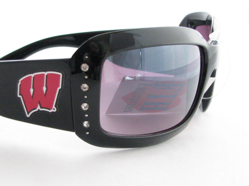 WSunglassses - Wisconsin Badgers NCAA Women's Black Fashion Sunglasses