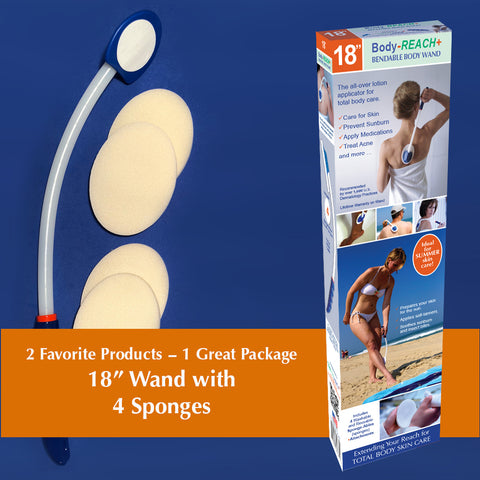 "18"" Semi-Flex+ Bendable Body Wand includes (4) Sponges"