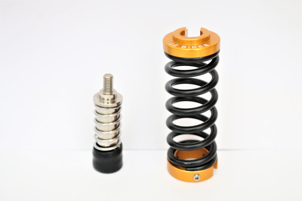 Install X-MAX auxiliary spring for seat