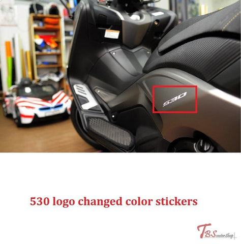 530 Logo Changed Color Stickers Tmax