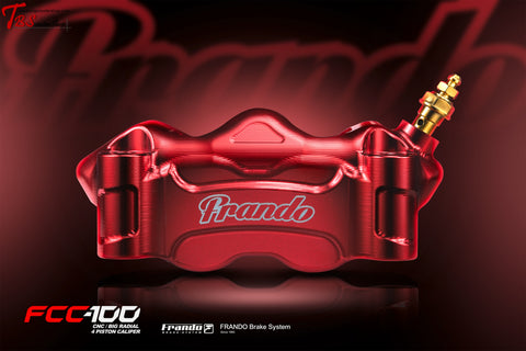 Frando Fcc-100 Cnc Radial 4 Piston Caliper Red / Right Universal Parts