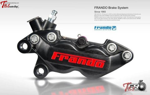 Frando Fr-6 Lateral 4 Piston Caliper Black / Right Universal Parts