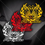Kymco Ak550 Club Flame Front Decal
