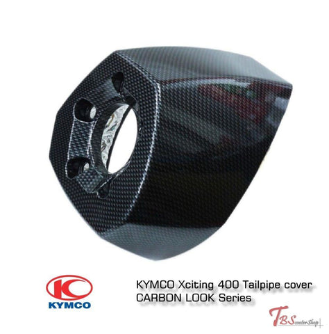 Kymco Xciting 400 Tailpipe Cover Carbon Look Series