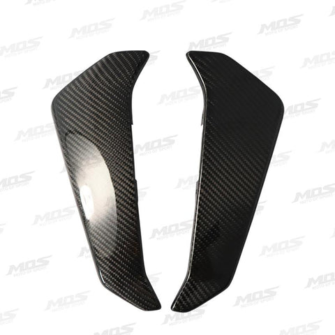Nos Carbon Fiber Radiator Side Protector Covers For Yamaha Mt-09