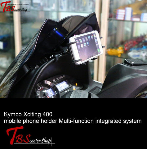 TBSS Kymco Xciting mobile phone holder Multi-function integrated syste - Taiwan Big Scooter Shop