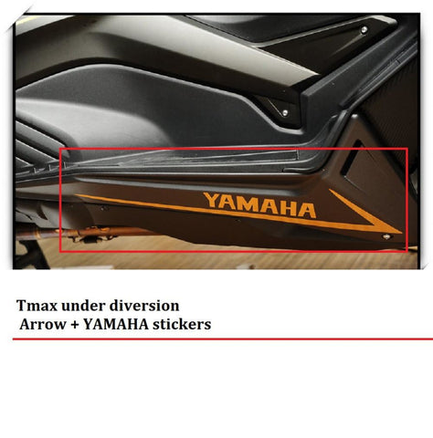 Tmax Under Diversion Arrow + Yamaha Stickers Tmax