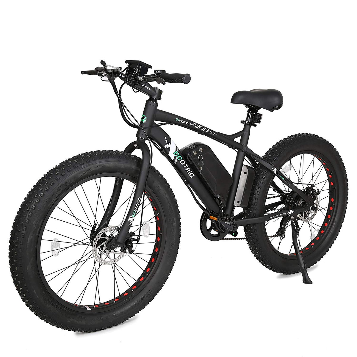 2021 Ecotric Fat Tire 36V 500W 7 Speeds Beach Snow Electric Bike, FAT26S900