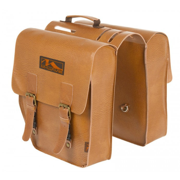 M wave amsterdam double l leatherette bike pannier bag upzy for Amsterdam products