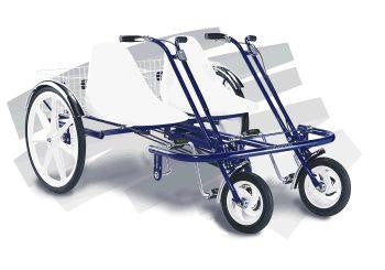 Trailmate Double Joyrider 24 Quot Side By Side Tandem Tricycle
