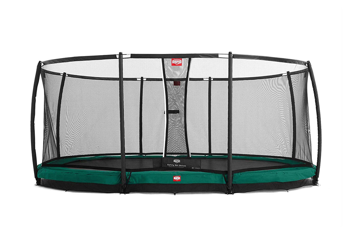 Berg USA GRAND CHAMPION IN-GROUND Oval 17ft Trampoline, Safety Net Deluxe