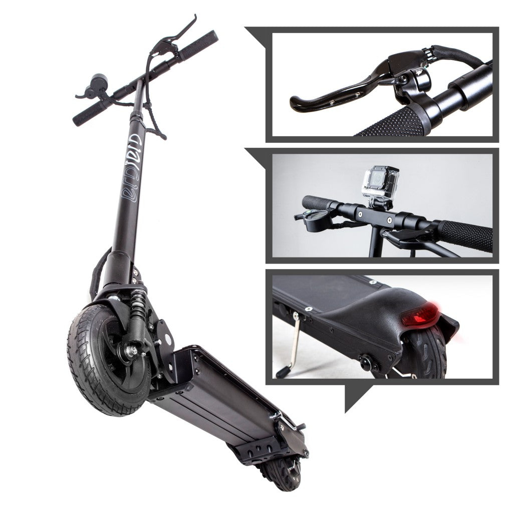 Ecoreco S5 700W Full Suspension Lithium Folding Electric Scooter, Black