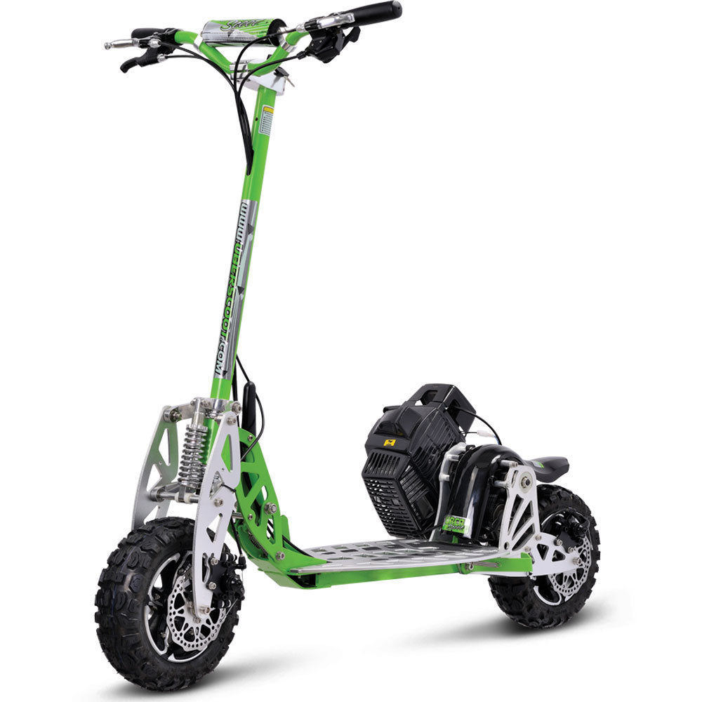 UberScoot 70x Suspension 2-Speed Gear Box Folding Gas Scooter