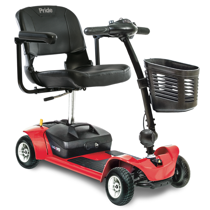 Pride mobility go go ultra x 4 wheel electric mobility for Go go motorized scooter