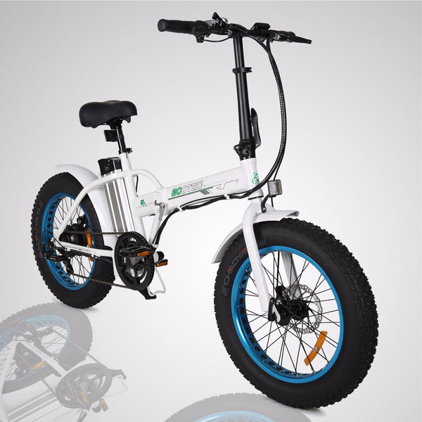Y Fliker Scooter >> 2019 Ecotric Fat Tire 7 Speed Portable Folding Electric Bike FAT20810 - Upzy