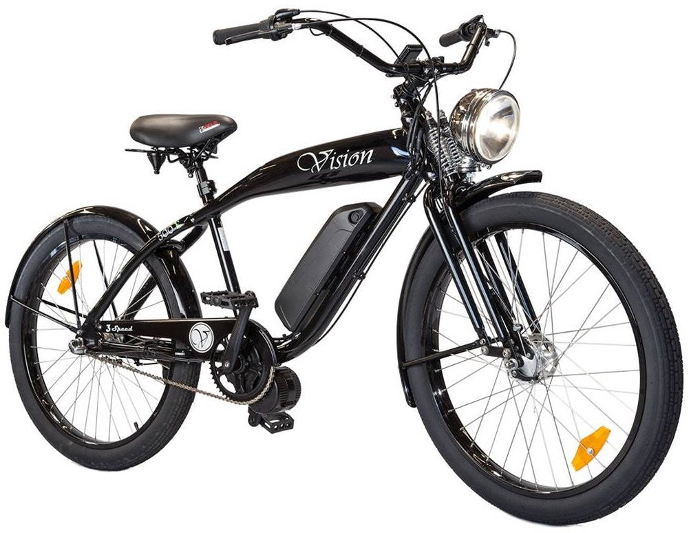 2018 Phantom Bikes Vision 3 Speed 500W 48V Retro Lithium Electric Bike