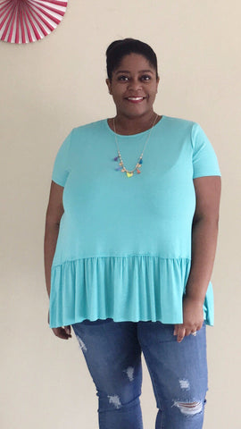 Pleated Mint Top