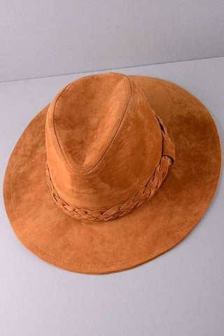 Braided Fedora - Camel