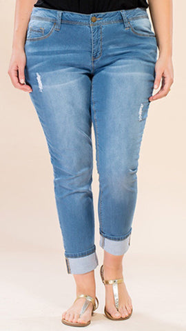 Distressed Anklet Jeans (14-24)