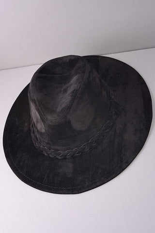Braided Fedora -Black