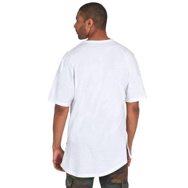 The Zip Zone White Long-Length Tee - Citi TrendsMens - 2