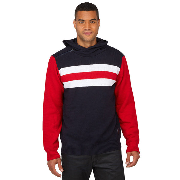 Believe The Stripe Hype Navy/Red Hooded Sweater - Citi TrendsMens - 3