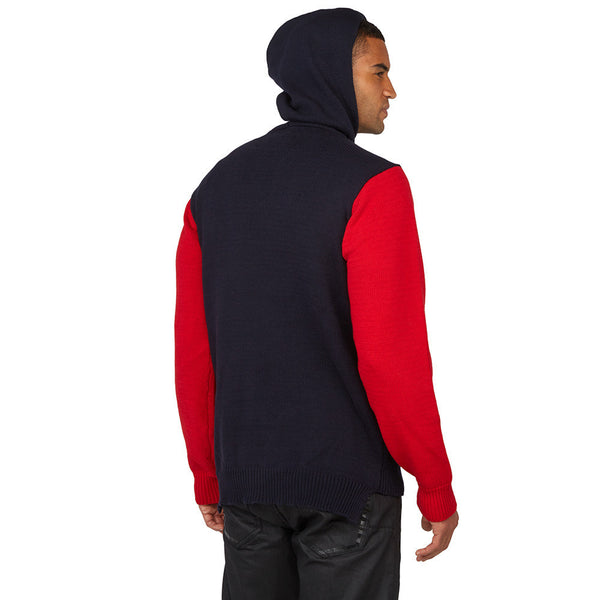 Believe The Stripe Hype Navy/Red Hooded Sweater - Citi TrendsMens - 2
