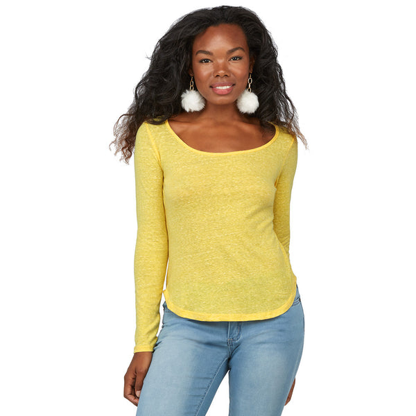 Can't-Miss Classic Yellow Curve-Hem Top - Citi Trends Juniors - Front