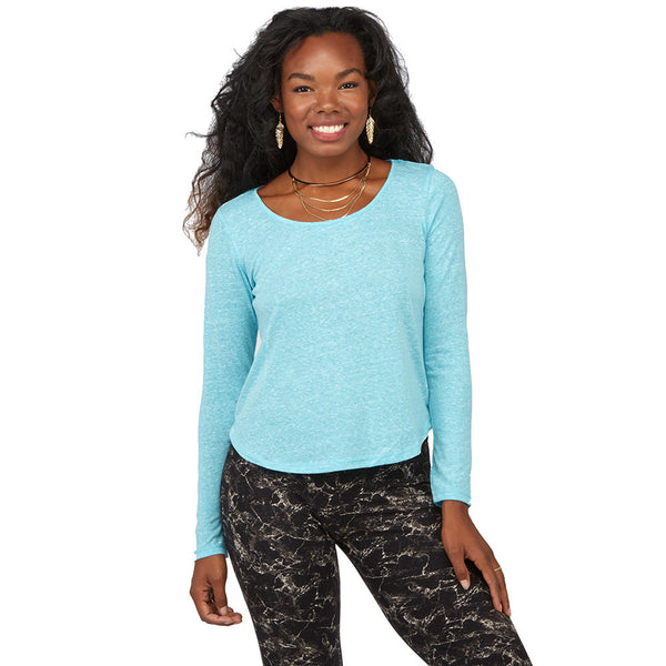 Can't-Miss Classic Aqua Curve-Hem Top - Citi Trends Juniors - Front