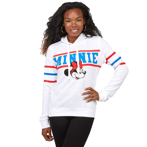 Getting Into Character White Minnie Mouse Hoodie - Citi Trends Plus and Juniors - Front