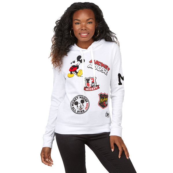 Repair With Flair Mickey Mouse Patchwork Hoodie - Citi Trends Juniors - Front