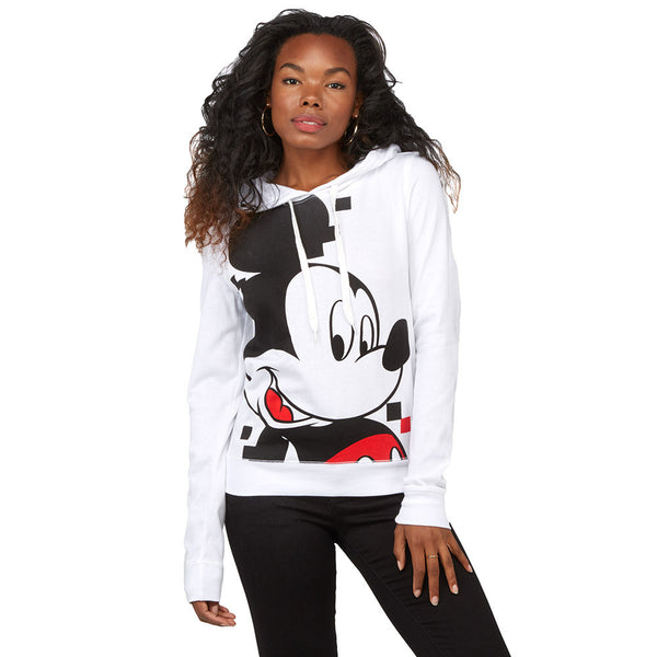 Hey, Mickey White Mickey Mouse Hoodie - Citi Trends Plus and Juniors - Front