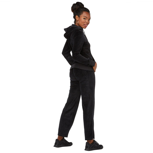 Casual Flow Black Velour 2-Piece Hoodie Set With Sequin Pockets - Citi Trends Juniors - Back