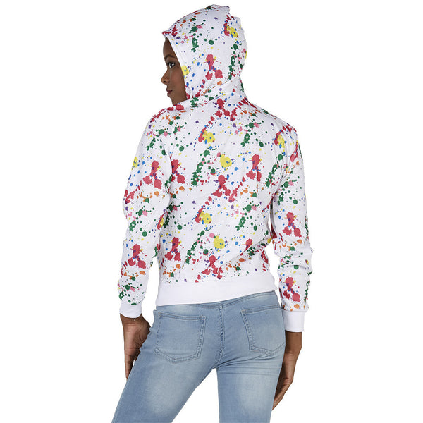 Art Meets Fashion Paint Splatter Zip Hoodie - Citi Trends Plus and Juniors - BACK