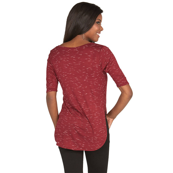 Flawless Fashion Burgundy Tee - Citi Trends Shoes - Back