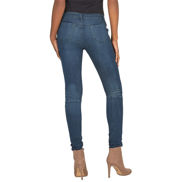 Moto Mood Dark Wash Skinny Jean - Citi Trends Juniors and Plus - Back