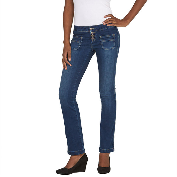 Pocket Play Bootcut Jean With Released Hem - Citi Trends Juniors and Plus - Front