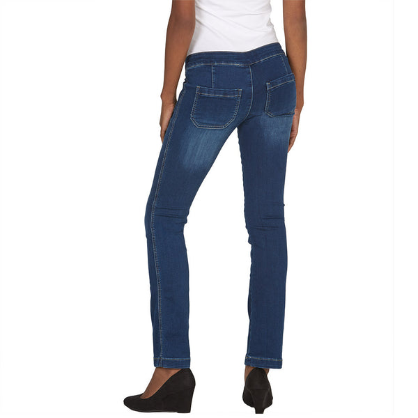 Pocket Play Bootcut Jean With Released Hem - Citi Trends Juniors and Plus - Back