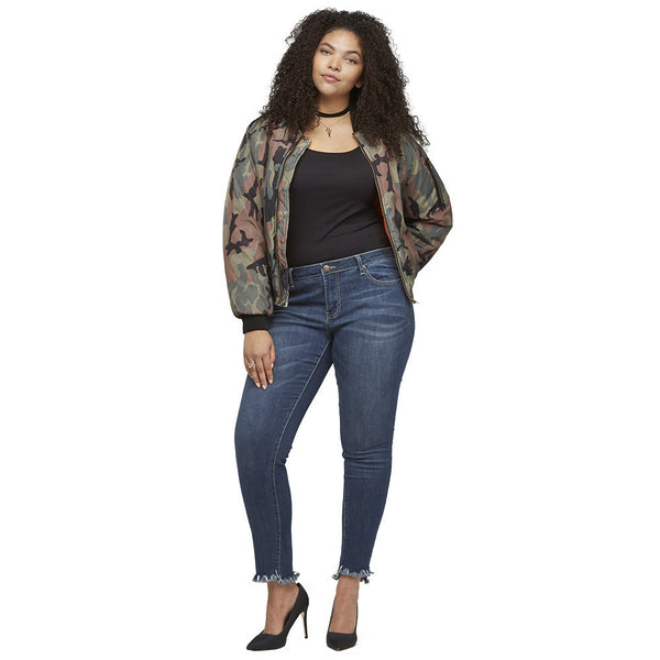 The Bomb Dot Com Camo Bomber Jacket - Citi Trends Ladies and Plus - Full Length Front