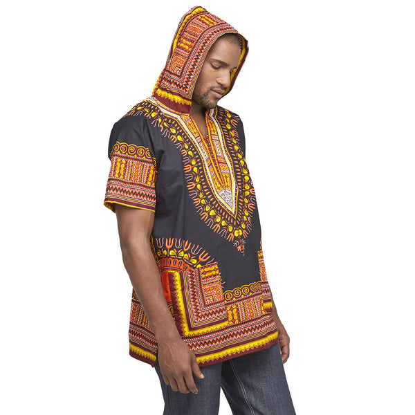 Go For The Bold Black Dashiki Hoodie - Citi Trends Mens - Side