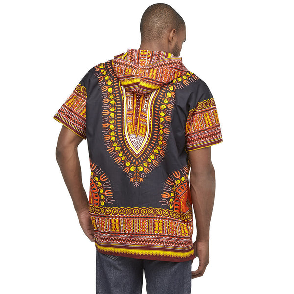 Go For The Bold Black Dashiki Hoodie - Citi Trends Mens - Back