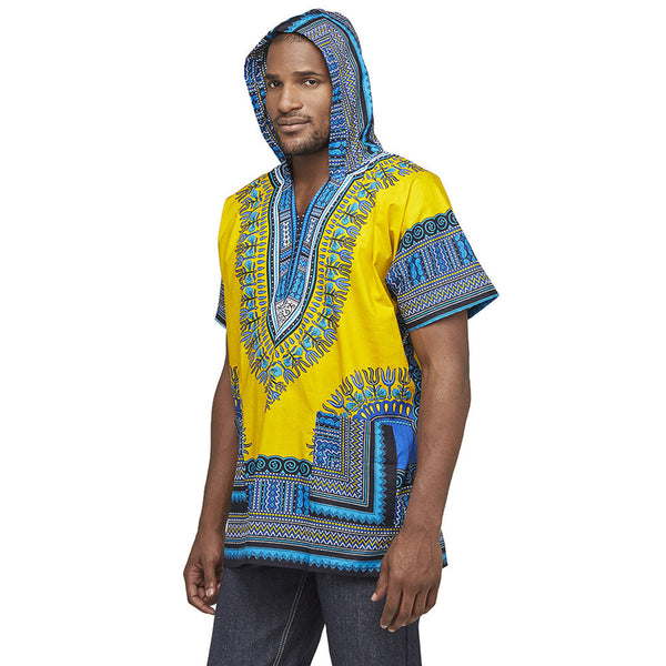 Go For The Bold Yellow Dashiki Hoodie - Citi Trends Mens - Side