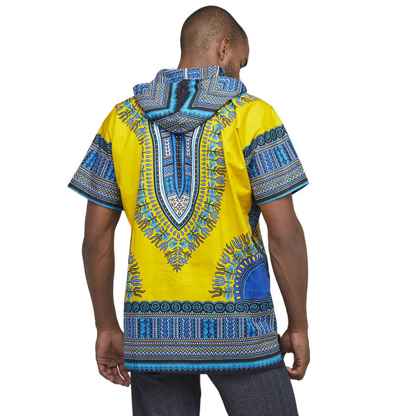 Go For The Bold Yellow Dashiki Hoodie - Citi Trends Mens - Back