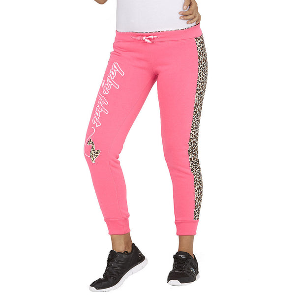 Cheetah Chill Baby Phat Neon Pink Fleece Jogger - Citi Trends Ladies - Front