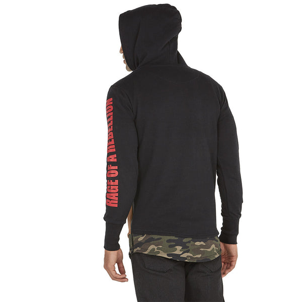 Mix It Up Camo Faux Suede Long-Length Hoodie - Citi Trends Mens - Back