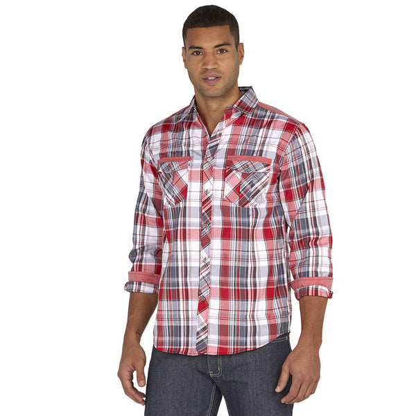 Get In Check Red Plaid Button-Down - Citi Trends Mens - Front