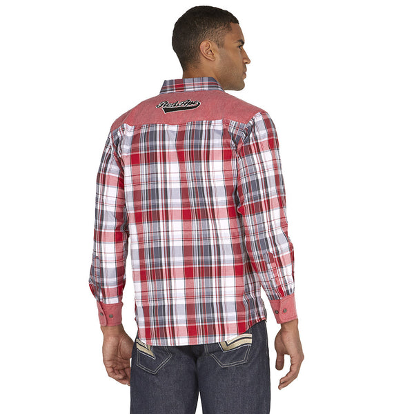 Get In Check Red Plaid Button-Down - Citi Trends Mens - Back
