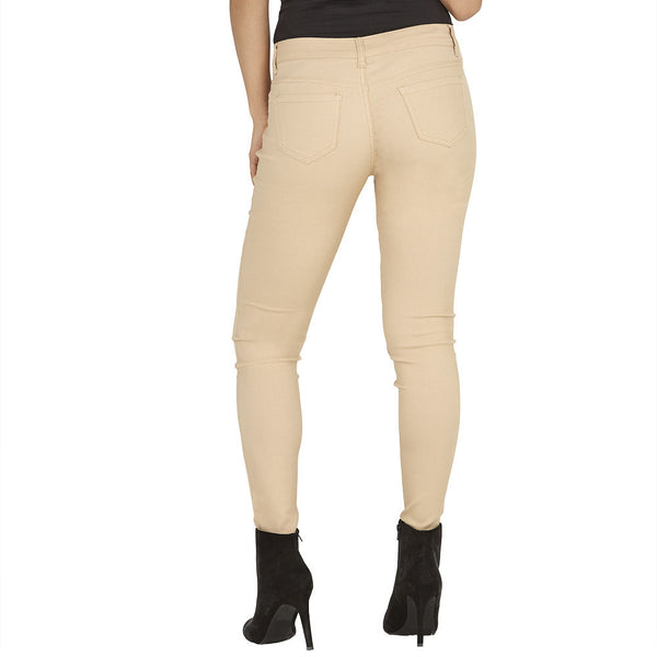 Stretch Back And Relax Khaki Skinny Pant - Citi Trends Plus and Ladies - Back