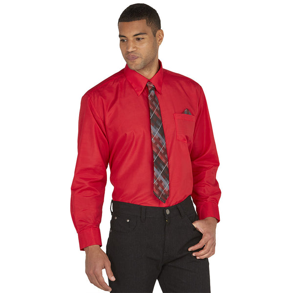 Dress To Impress Red/Plaid 3-Piece Dress Shirt Gift Box Set - Citi Trends Mens - Front