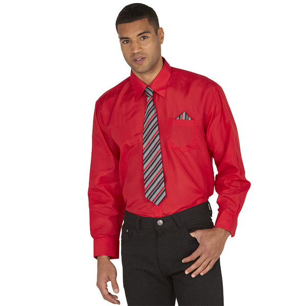 Dress To Impress Red/Stripe 3-Piece Dress Shirt Gift Box Set - Citi Trends Mens - Front